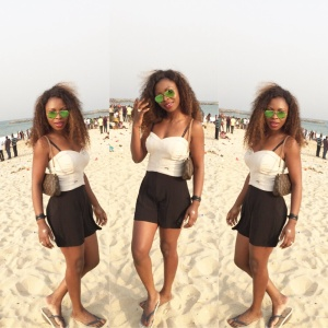 At the beach with Friends in Lagos
